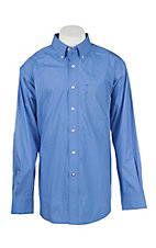 Ariat Men's Blue Solid  L/S Western Shirt