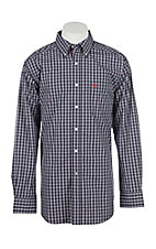 Ariat Men's Pro Series Ravendale Oceans Blue Plaid Fitted L/S Western Shirt