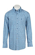 Ariat Men's Palmdale Blue Print L/S Western Shirt