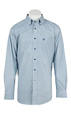 Ariat Men's Pellston White Print L/S Western Shirt