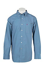 Ariat Men's Potter Teal Print L/S Western Shirt