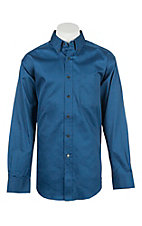 Ariat Men's Solid Rush of Blue L/S Western Shirt