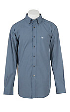 Ariat Men's Pro Series Dark Blue Checkered L/S Western Shirt