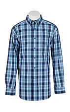 Ariat Men's Pro Series Radwin Blue Plaid L/S Western Shirt