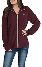 Ariat Women's Basis Malbec Wine Full Zip Fleece TEK Jacket