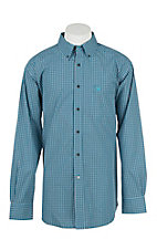 Ariat Men's Pro Series Reed Waterfall Checkered L/S Western Shirt