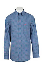 Ariat Men's Ripley Earthly Blue Print L/S Western Shirt
