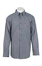 Ariat Men's Rivera Navy Print L/S Western Shirt