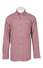 Ariat Pro Men's Sabre Rubaiyat Plaid Long Sleeve Western Shirt