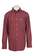 Ariat Men's Shafter Maroon Print L/S Western Shirt