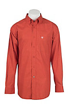 Ariat Men's Shasta Orange L/S Western Shirt