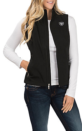 Ariat Women's Black Team Logo Softshell Vest