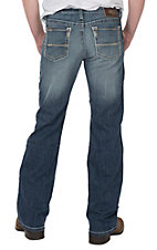 Ariat Men's M7 TEK Stretch Rocker Cooper Phoenix Medium Wash Slim Boot Cut Jeans