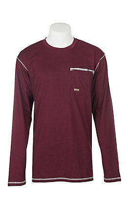 Ariat Men's Malbec Rebar Crew Long Sleeve Work Shirt