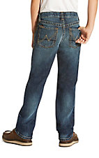 Ariat Boy's Dark Wash B5 Falcon Cyclone Slim Fit Straight Leg Jeans