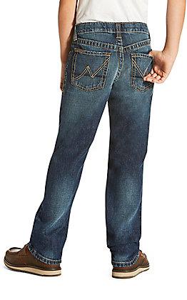 Ariat Boys' Dark Wash B5 Falcon Cyclone Slim Fit Straight Leg Jeans