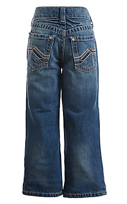 Ariat Boys' B4 Medium Wash Cody Dakota Relax Boot Cut Jeans