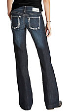 Ariat Women's Dark Wash Mid Rise Trouser Jeans