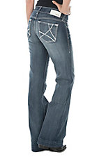 Ariat Women's Sophia Medium Wash Open Pocket Denim Trouser Jean