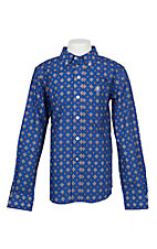 Ariat Boy's Blue Benchley L/S Western Shirt