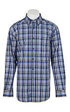 Ariat Men's Pro Series Brookwood Brilliant Blue Plaid L/S Western Shirt