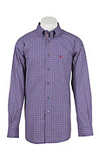 Ariat Men's Pro Series Brewton Vibrant Blue Checkered L/S Western Shirt