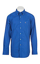 Ariat Men's Boyd Vibrant Blue Print L/S Western Shirt