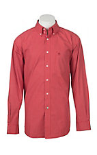 Ariat Men's Pro Series Boaz Orange Checkered L/S Western Shirt