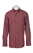 Ariat Men's Pro Series Benton Red Plaid L/S Western Shirt