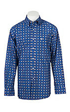 Ariat Men's Benchley Blue Multi Print L/S Western Shirt
