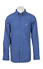 Ariat Men's Pro Series Barado Vibrant Blue Plaid L/S Western Shirt