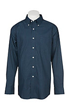 Ariat Men's Zerwood Navy Print L/S Western Shirt