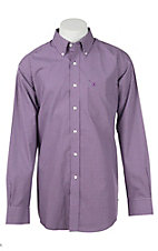 Ariat Men's Wrinkle Free Keymore Purple Plaid L/S Western Shirt