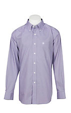 Ariat Men's Zilverton Plum Wrinkle Free L/S Western Shirt