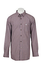 Ariat Men's Pro Series Abilene Malbec Plaid L/S Western Shirt