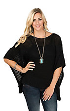 Ariat Women's Black Pullover Poncho Shirt