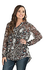 Ariat Women's Multi Colored Large Paisley Print Tunic