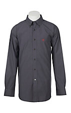 Ariat Men's Pro Series Alcino Charcoal Grey Plaid L/S Western Shirt