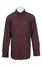 Ariat Men's Angwin Malbec Print L/S Western Shirt