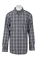 Ariat Men's Pro Series Antioch Charcoal Grey Plaid L/S Western Shirt
