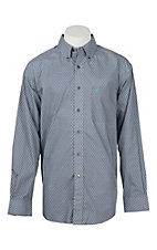 Ariat Men's Argo Grey with White Sun Print L/S Western Shirt