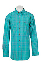 Ariat Men's Pro Series Ashland Turquoise Plaid L/S Western Shirt