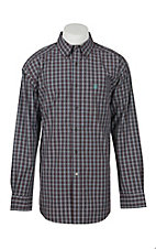 Ariat Men's Pro Series Aubrey Malbec Plaid L/S Western Shirt