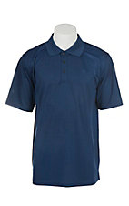 Ariat Men's Estate Blue Heat Series Tek Polo Shirt
