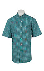 Ariat Men's Turquoise Print S/S Western Shirt