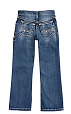 Ariat Boy's Medium Wash Relaxed Fit Boot Cut Open Pocket Jeans