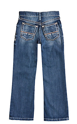 Ariat Boys' B4 Coltrane Durango Medium Wash Relaxed Fit Boot Cut Jeans (7-16)
