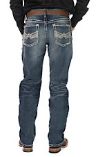 Ariat Men's Dark Wash Relaxed Fit Boot Cut Jeans