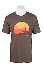 Ariat Men's Brown with Sunset Logo Short Sleeve T-Shirt