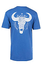 Ariat Men's Royal Blue with White Steer Skull Logo Short Sleeve T-Shirt